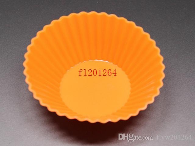 / 무료 배송 라운드 모양의 실리콘 머핀의 경우 케이크 컵케잌은 라이너 베이킹 금형 Bakeware 메이커 금형 쟁반 베이킹