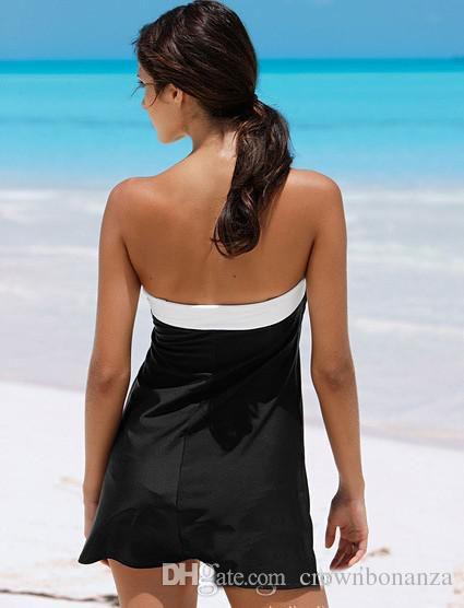 Einteiliger Badeanzug Sexy Cover-ups Urlaub Strandkleid Frauen Badebekleidung Blownot Kleid