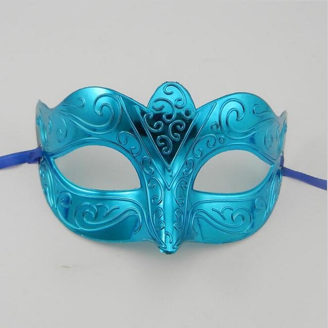 Nueva máscara de la manera partido de la mascarada colorido plateado handmake máscara veneciana Masquerade bola máscara envío gratis 100 unids / lote a la venta