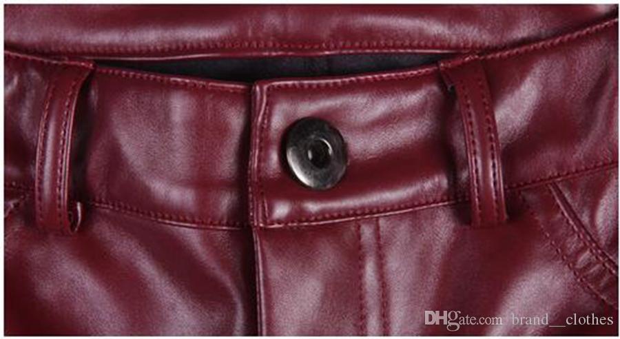 Women Winter in Europa en de nieuwe Han Edition Quality Goods Meer elastische en fluwelen strakke legging dunne lederen broek. S - 4XL