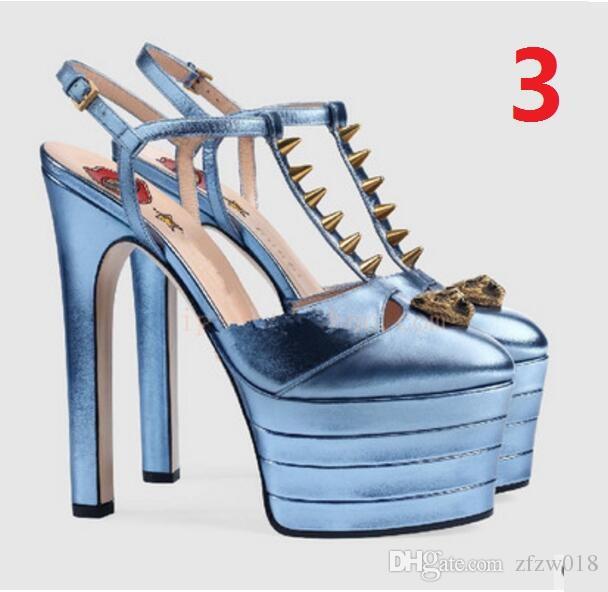 New Summer Platform Spiked Gladiator Sandals Women Striped Metallic High Heels Pumps Escarpins Ladies Prom Wedding Shoes Mary Jane Shoes