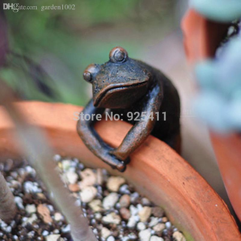 2018 Garden Decoration Resin Animal Frog Garden Ornaments Gadget Garden  Figure Flower Pots Decoration Novelty Households From Garden1002, $23.63 |  Dhgate.
