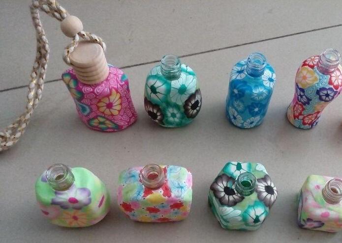 Gorąca sprzedaż 15 ml samochodu zawieszenia dekoracji ceramiczne esencja perfumy butelki wieszać linę pustą butelkę