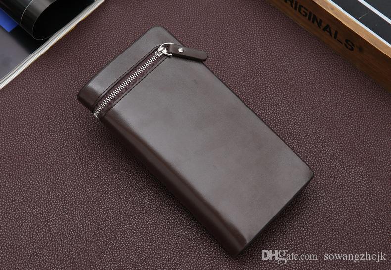 محفظة الرجال العلامة التجارية، ورجال بو الجلود مع محافظ على بطاقة الرجال محفظة الغمد حامل الشحن المجاني