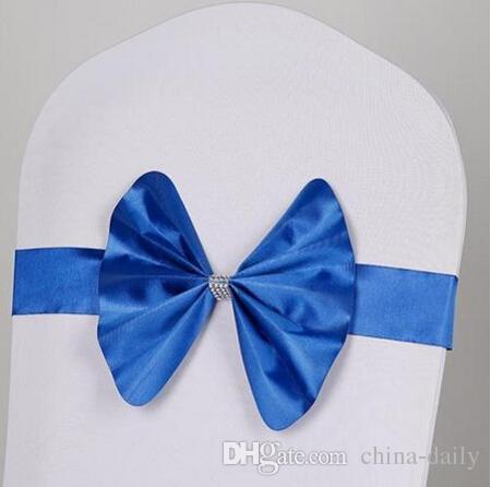 Freie EMS DHL keine Notwendigkeit, den Knoten zu binden große Landschaft-Hochzeits-Stuhl-Abdeckungs-Schärpe-Schärpe-Partei-Bankett-Dekorations-Dekor-Bogen-Farben