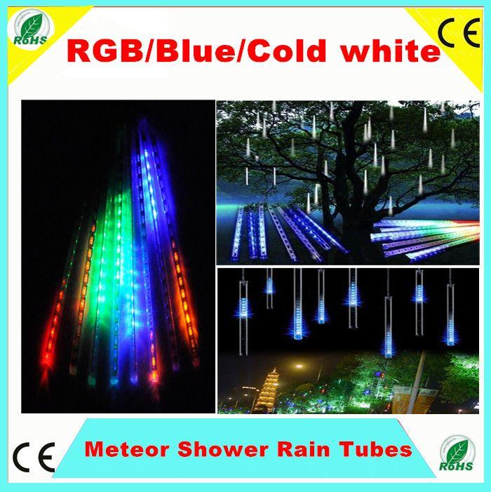 2019 50cm Shower Rain Meteor Tube Rgb Blue Warm Cold White