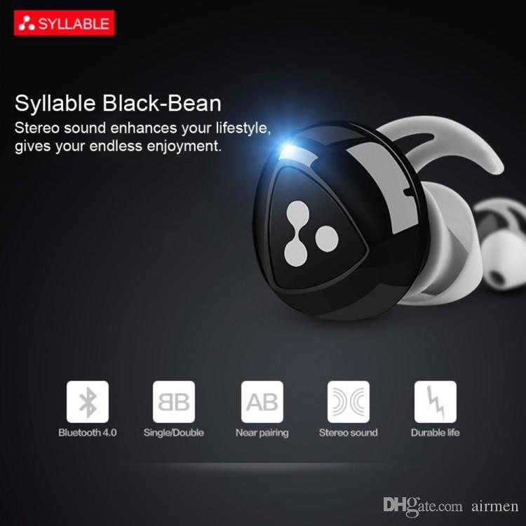 d1d631c794f Syllable D900 Black Bean Headphone True Wireless Bluetooth Sports Headsets  Noise Cancelling With Charging Station Powerbank Headphone Jack Headphones  For ...