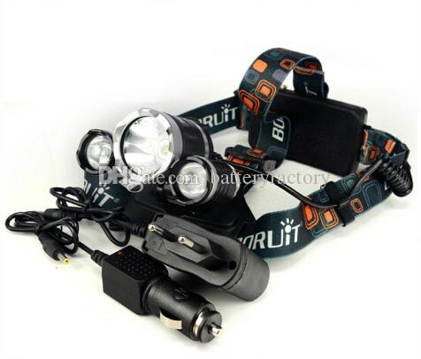 good price 5000 Lumen T6+2R5 Boruit Head Light Headlamp Outdoor Light Head Lamp HeadLight Rechargeable by 2x 18650 Battery Fishing Camping
