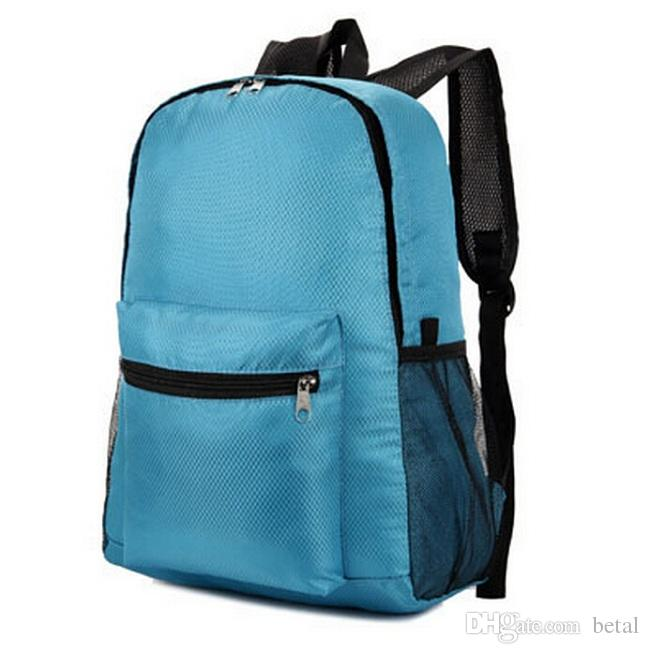Foldable Women Backpack Waterproof Nylon School Backpack Travel Sports Camping Hiking Cycling Shoulder Bag