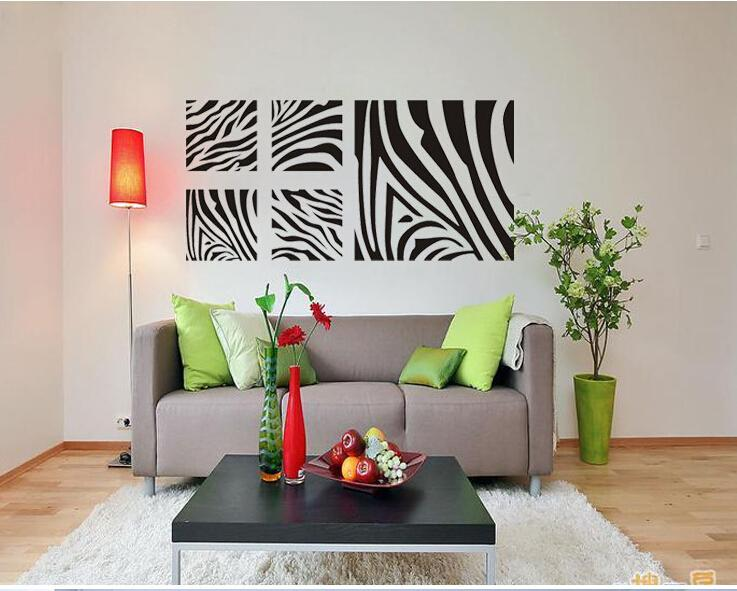 Removable Family Vinyl Wall Art Geometric Wall Sticker Zebra - Zebra stripe wall decals