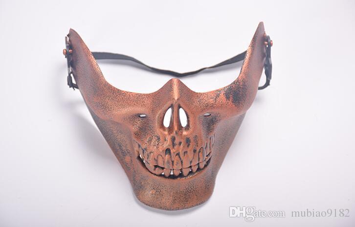 Весело пейнтбол ПВХ Airsoft маски страшно скелет череп маска защитный Хэллоуин карнавал Новый год высокое качество 5 цветов