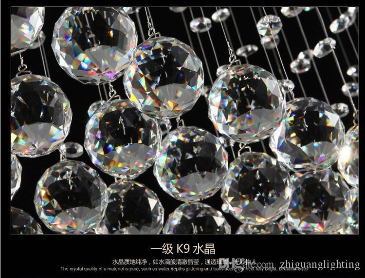Moderne plafondlamp slaapkamer lamp moderne korte kristallen lampen opknoping plafondlampen LED-cirkellampen Rechthoek opbouw