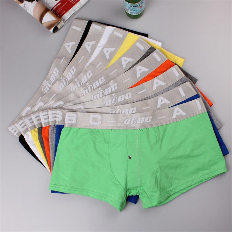 Undewear Men Boxer Shorts Elastic Casual Men Boxers Sexy Comfortable Colorful Boxers Shorts Pants Cueca Solid Color Hot Sale Underwear
