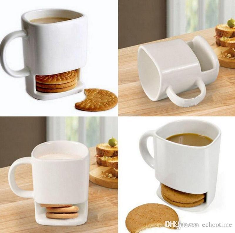 2018 Newest Ceramic Milk Cups With Biscuit Holder Dunk Cookies ...