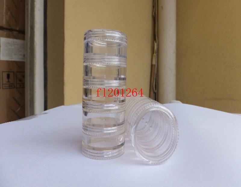 Fedex DHL Бесплатная доставка новый 5 г крем банку 5 мл крем бутылка косметическая банка пластиковая банка косметическая упаковка контейнера, 5000 шт. / Лот