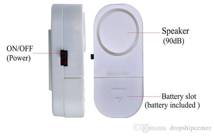 RL-9805 Especial Sem Fio Da Janela Da Porta Sensor de Alarme Magnético Interruptor Home Security Alarme de Sino Sistema de Segurança Aviso Frete Grátis
