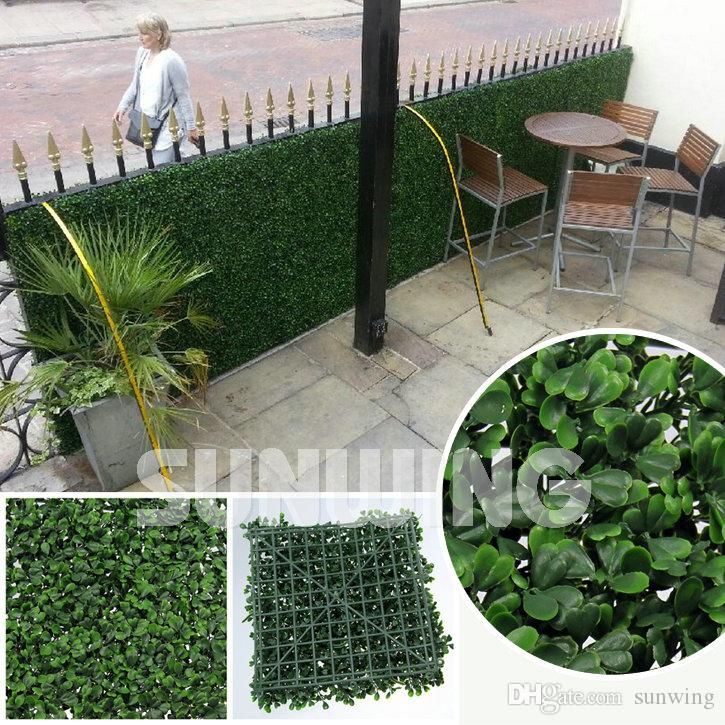 2018 artificial garden hedges plants 50x50cm fake fencing outdoor