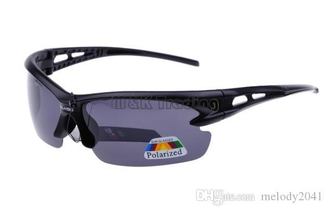 メンズハーフフレームのプラスチックサングラスメンズスポーツアイウェアUV400のための10ピースの無料出荷偏光サングラス