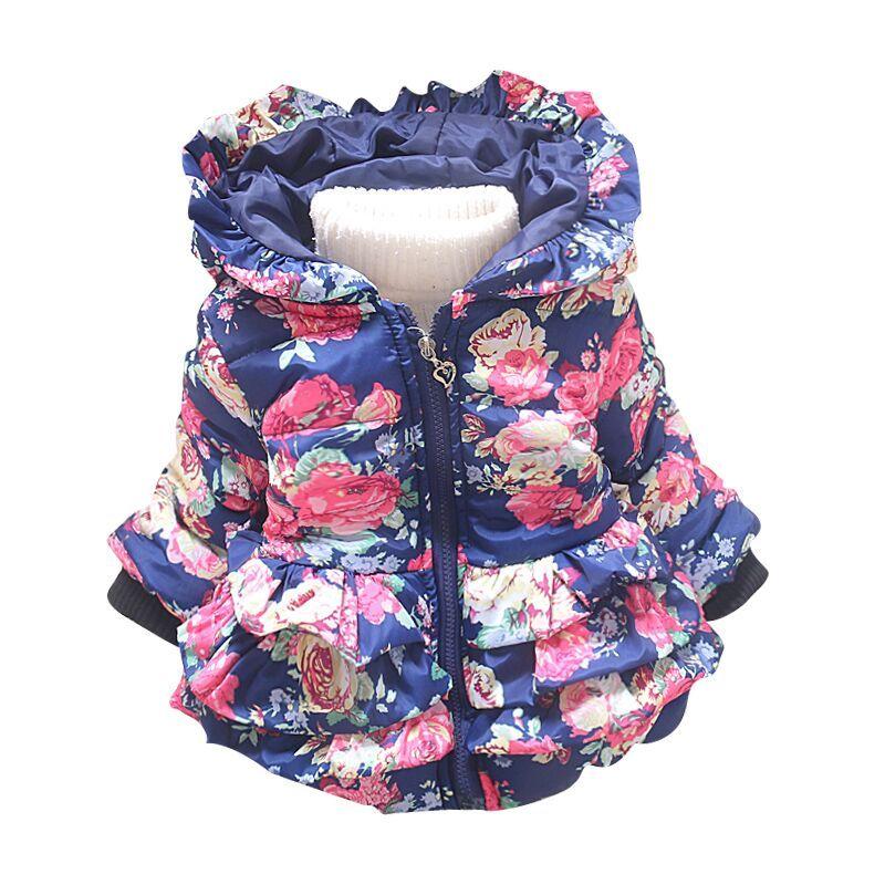 cbd153fb6449 New Baby Girl s Flower Jacket Coats Girl Outerwear Autumn Winter ...