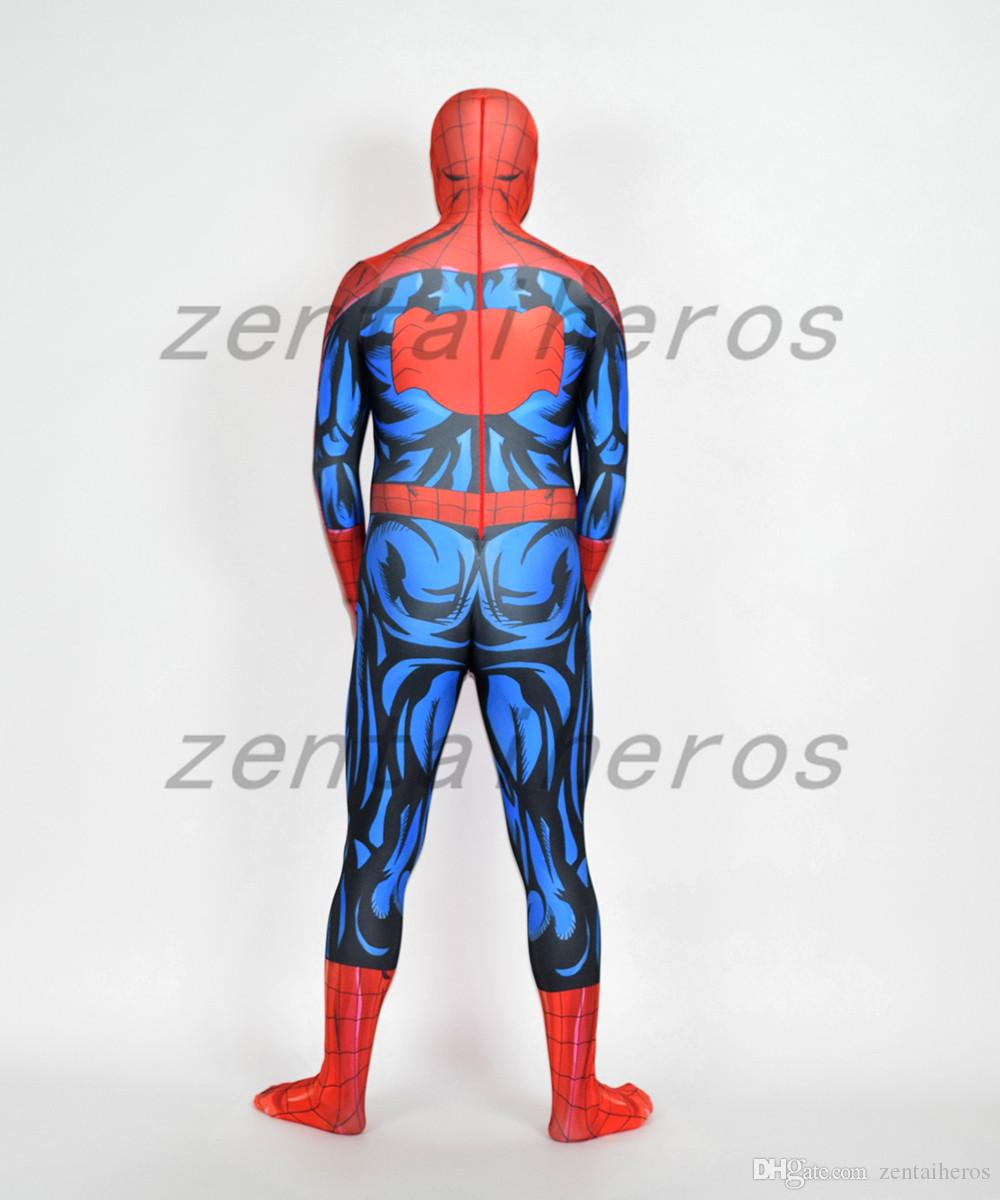 3D Печатный Ultimate Человек-Паук Костюм Лайкра спандекс Косплей Halloween Party Косплей Зентаи Костюм.
