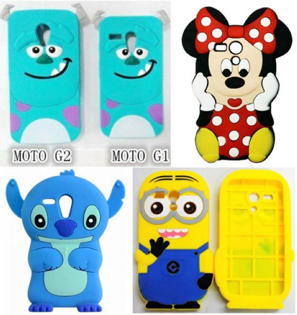 100% authentic afb9d d77ae For Motorola Moto G2 G 2nd Gen 3D Cases Despicable Me 2 Minions Sulley Soft  Rubber Mobile Phone Back Case Cover