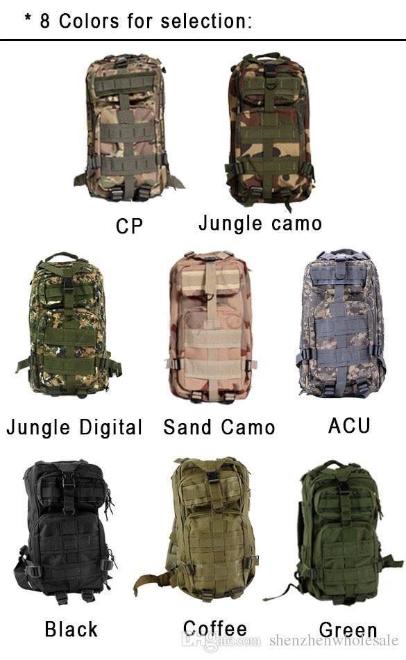 Hot Sale Men Women Unisex Outdoor Military Tactical Backpack Camping Hiking Bag Trekking Rucksacks, Free DHL/Fedex