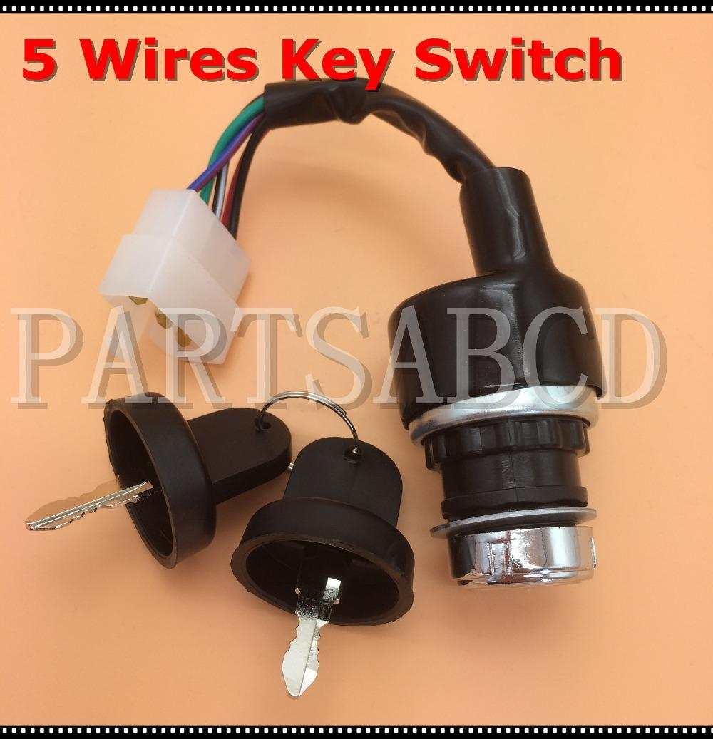 Wholesale 5 Wires Ignition Start Key Switch 50CC 110CC 125CC 150CC 250CC ATV  Quad Go Kart Buggy Parts Buy Cheap Atv Online Buy Motorcycle Parts From ...
