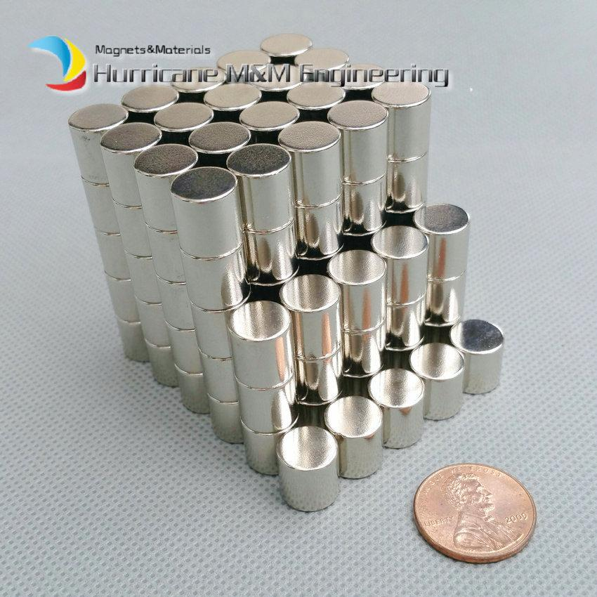 1 pack N35 NdFeB Magnet Disc Diameter 10x10 mm about 0.39'' Strong Neodymium Magnets Diametrically Rare Earth Magnets Permanent Magnets
