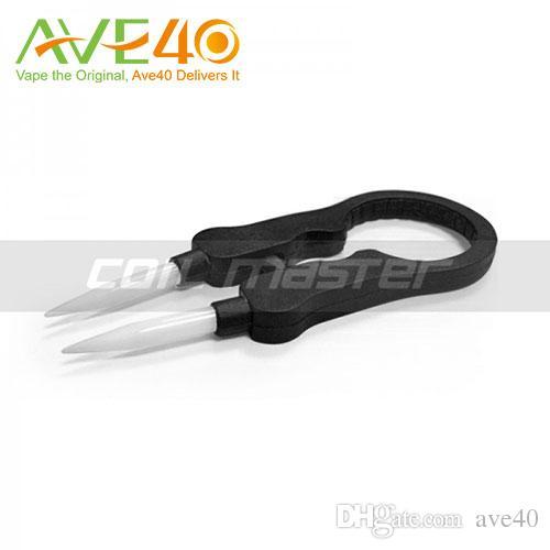 Authenic Coil Master Vape Tweezers DIY Tool 세라믹 팁 직경 22-25mm의 분무기에 적용