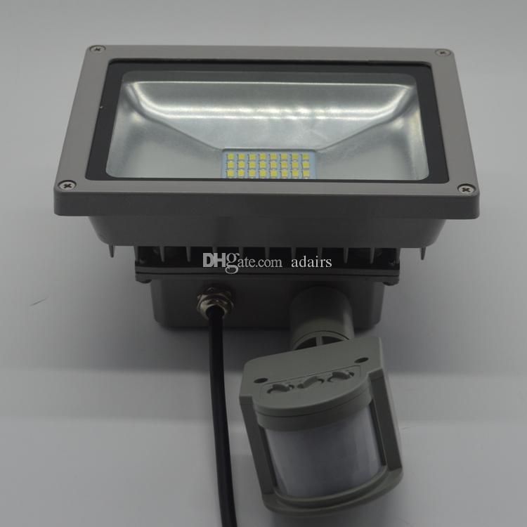 20W كول الأبيض مصلحة الارصاد الجوية الصمام ضوء الفيضانات + استشعار الحركة في الهواء الطلق حديقة مصباح الضوء IP65