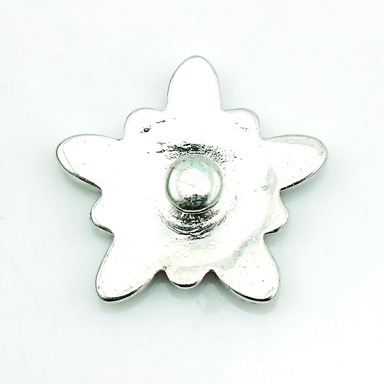 High Quantity Snap Button Oils Flower 18mm Metal Clasp Button DIY Interchangeable Jewelry Accessories