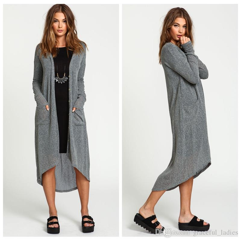 Jasnozielony szary sweter dla kobiet dzianiny dorywczo luźne plus size Sweter świąteczny dla damskich odzież długich kardigan niebieski fabryka tunika