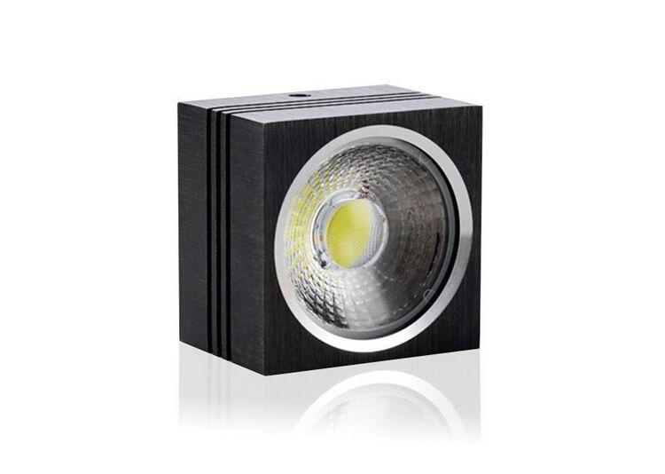 Wholesale price COB LED downlight 7W 12W Dimmable 110V 120V 220V Surface mounted led light Spot square led ceiling lamp