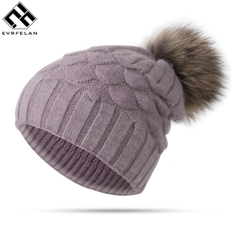 High Quality Winter Women Girl Pom Pom Hat Beanies Warm Knitted Pompom Hat  For Children Winter Female Warm Hat Cap Cap Fedora From Crazyxb 6badbe140733