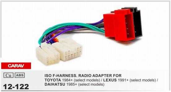 Brilliant Carav12 122 Iso F Harness Radio Adapter For Stoyota Lexus Wiring Database Aboleterrageneticorg