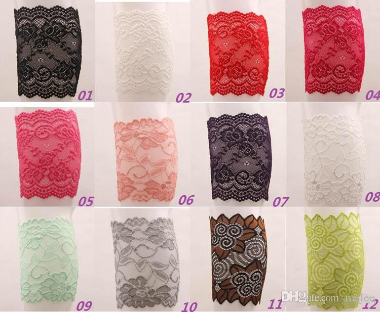 New Stretch Lace Boot Cuffs High Quality Women Flower Leg Warmers Lace Trim Toppers Socks