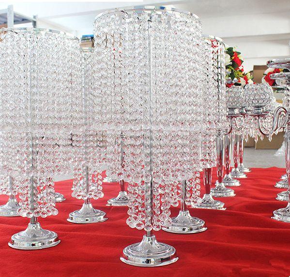Vaso de flor de cristal da decoração do casamento para a decoração home / flor handmade do vaso de cristal