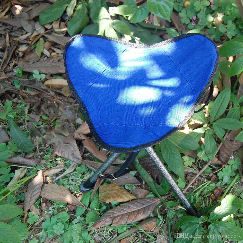 Camping Portable Folding Tripod Hocker Outdoor Militärhocker Stuhl Leichtes Neues Design für Angeln Reisen Wandern Hausgarten Strand