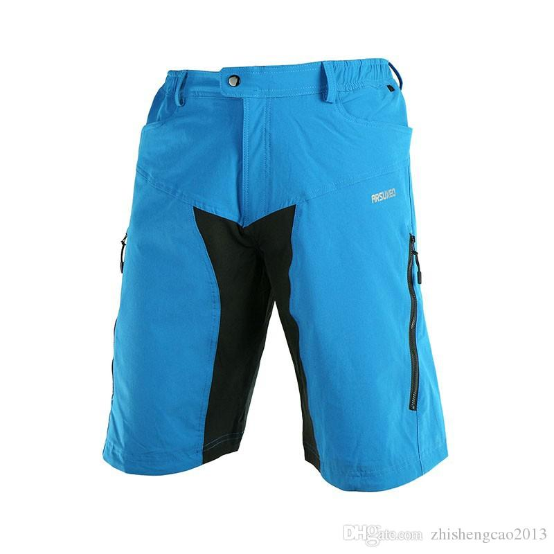 ARSUXEO Mens Outdoor Sports Cycling Clothing Downhill MTB Shorts Mountain Bike Bicycle Shorts Wear Jersey With Pad DH-2