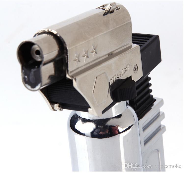 jet torch lighter refillable Classic Cigarette Cigar Lighter Gas Flame jet lighter gas lighters