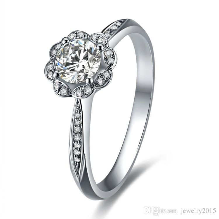 925 sterling silver rings for women Simulated diamond wedding ring white gold wedding bands propose ring