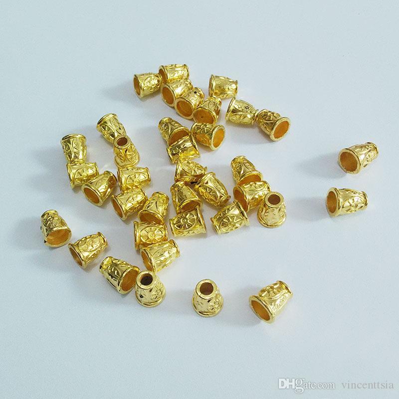 Acryl Quaste Kappen Perlen Perle Kräuselungen Ende Blume Glocke Abstandskordeln Texturierte Zelle Tasche Kunst Erkenntnisse Verschlüsse Komponenten Charms Schmuck machen