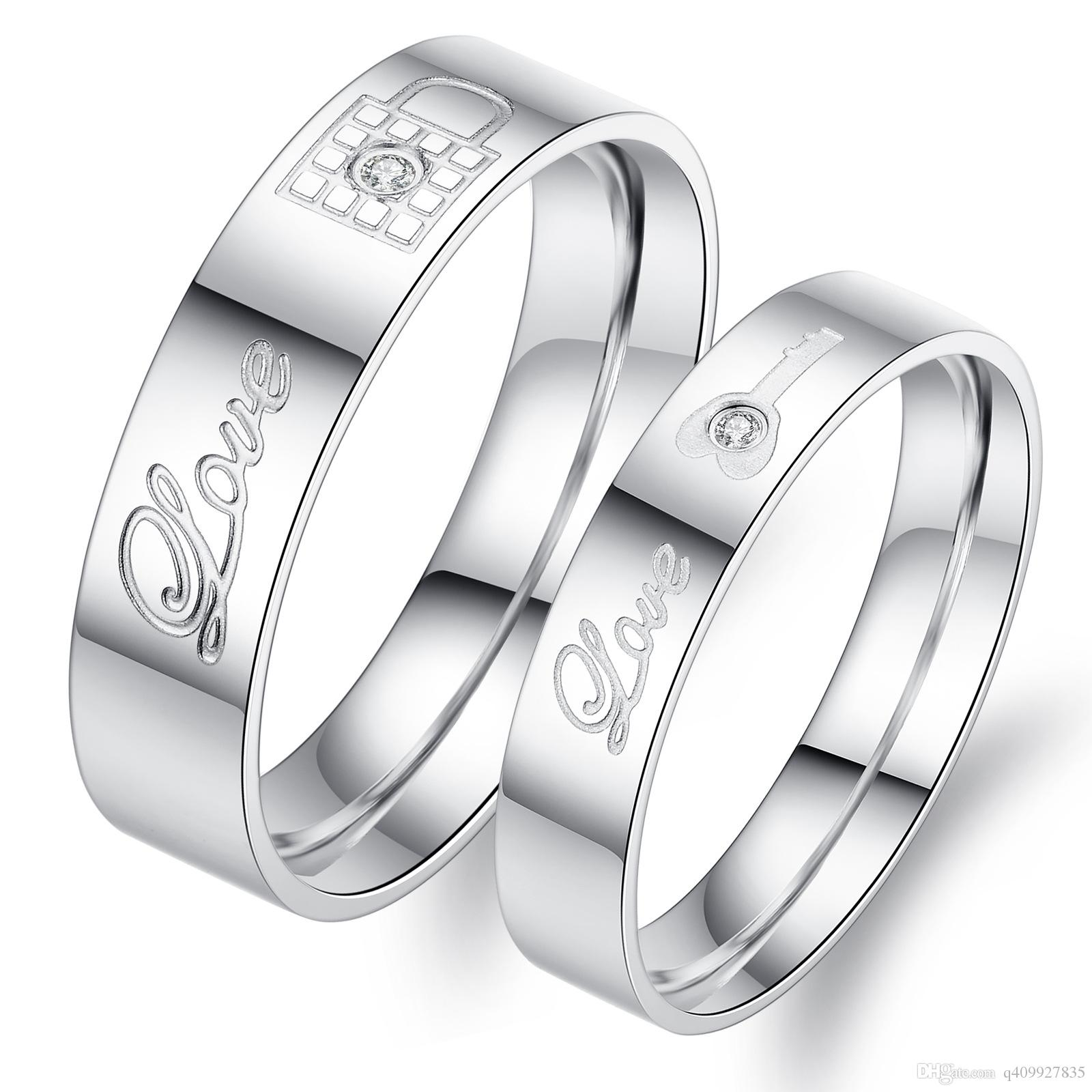 High Quality Womens Unique White Titanium Stainless Steel Rings