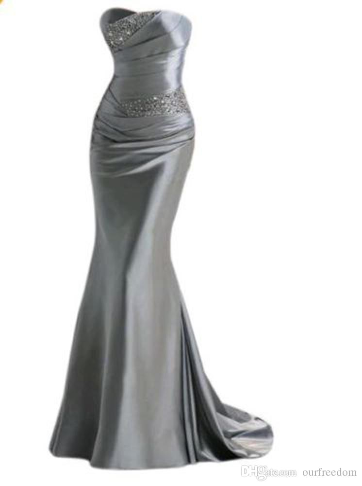 2019 Image réelle Robes de Bal Chaud Avec Bretelles Perlées Dos Nu en Satin Élastique Satiné En Stock Robe de Soirée Pageant Rouge Soirée