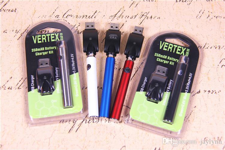 Kit de blister pour batterie de préchauffage 350/650 / 1100mah LAW V-Vape Variable préchauffage stylo vape 510 fil USB Blister individuel Batterie vape