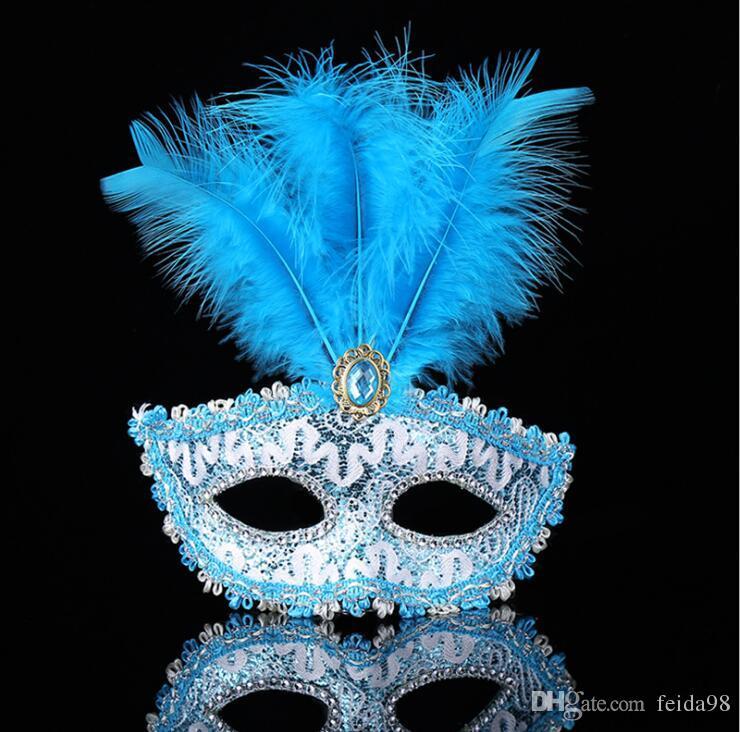 Maschera piume di cerimonia nuziale maschere festa mascherata maschera veneziana donne maschera Lady Sexy maschere di carnevale Mardi Gras Costume G1171