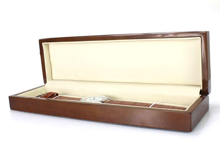 High-End-Rechteck-Uhrenbox Luxus-Brown-Holzkiste Business-Geschenk-Boxen Schmuck-Kollektion-Box maßgeschneiderte Marke Spot Großhandel kostenlos Schiff
