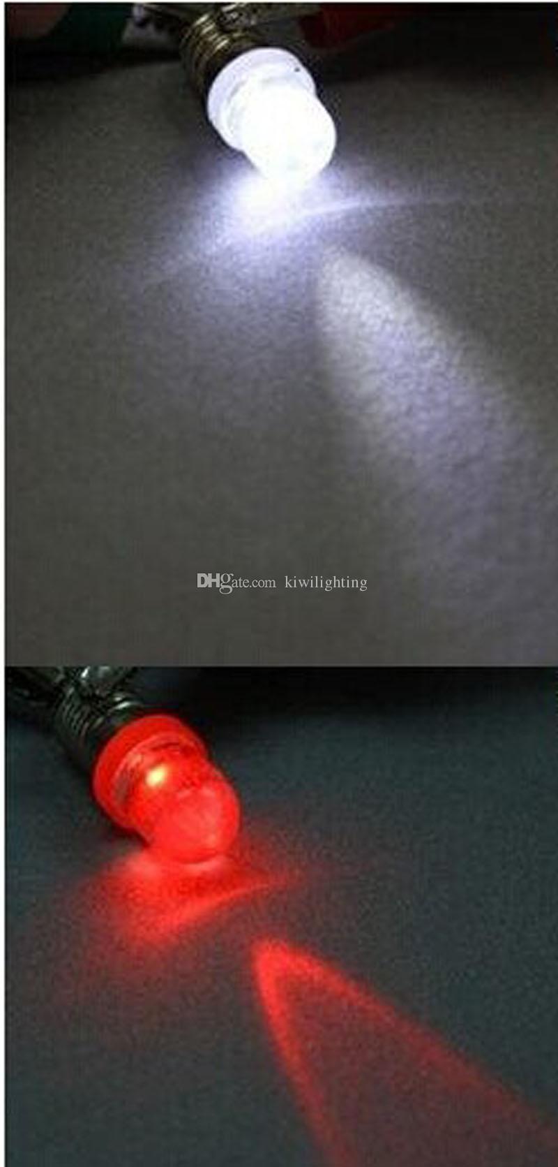 120 sztuk E10 śruba żarówka 12 V biały niebieski czerwony żółty zielone światło