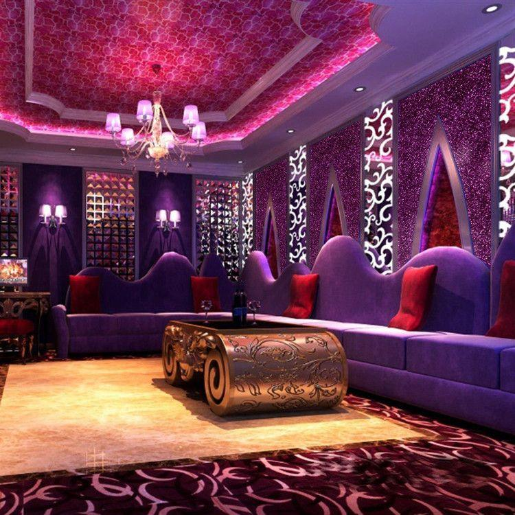 Ktv Clothing Factory Direct Flash Lighting Shop Wallpaper Wall Covering Special Engineering Background Reflective Wide