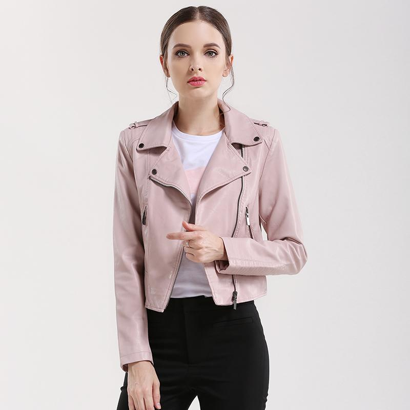 d1dd9991564 Cheap Wholesale- Brand Motorcycle PU Leather Jacket Women Winter And Autumn  New Fashion Coat Zipper Outerwear Jacket New 2017 Coat HOT